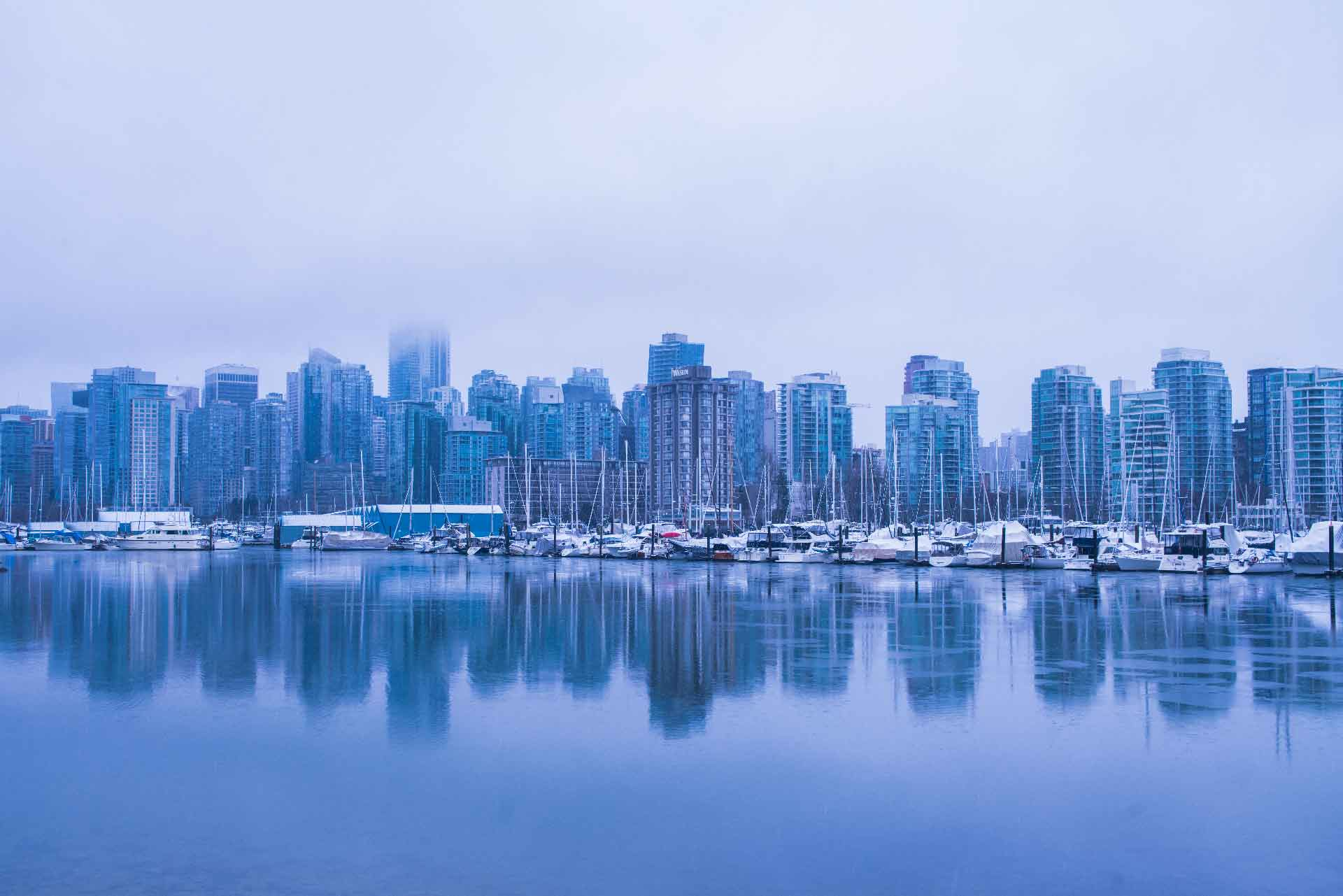 City view from Stanley Park