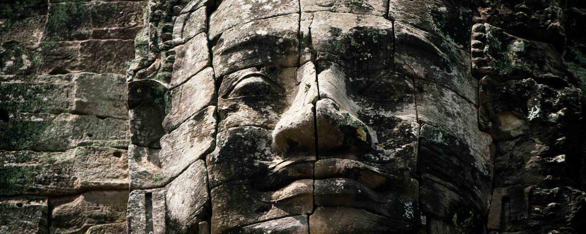 faces temple cambodia