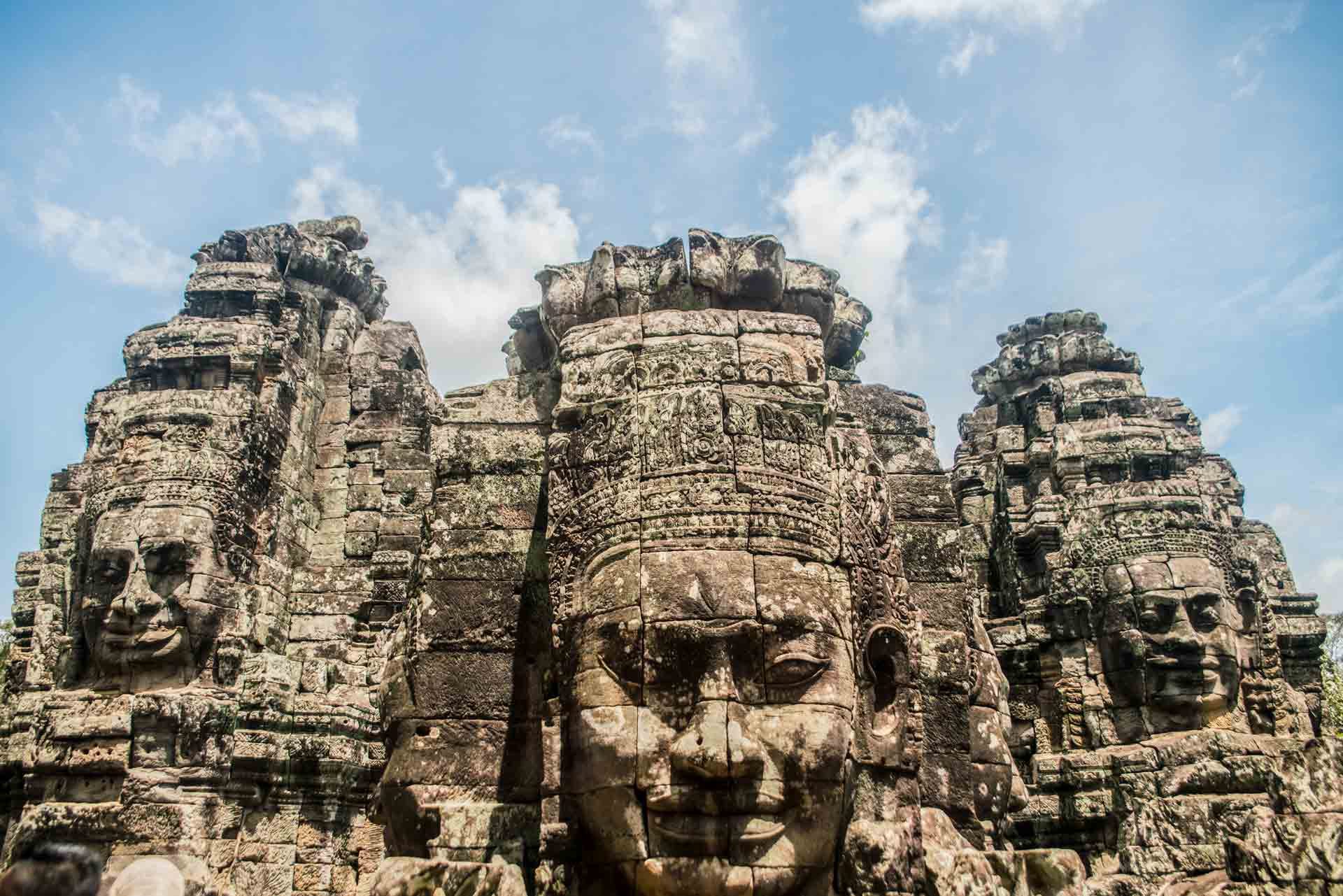 faces temples siem reap cambodia