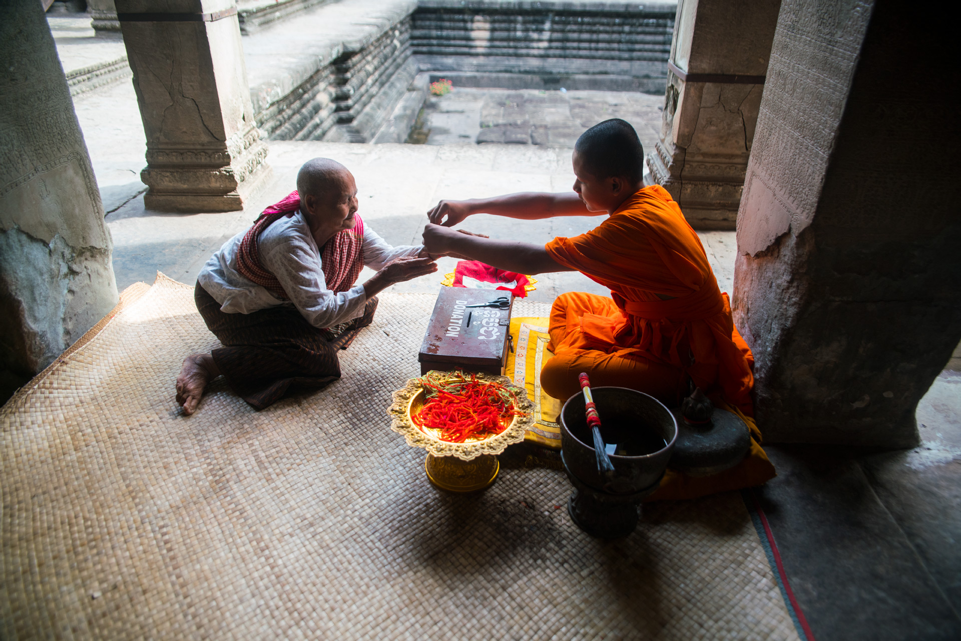 Cambodia siem reap monk