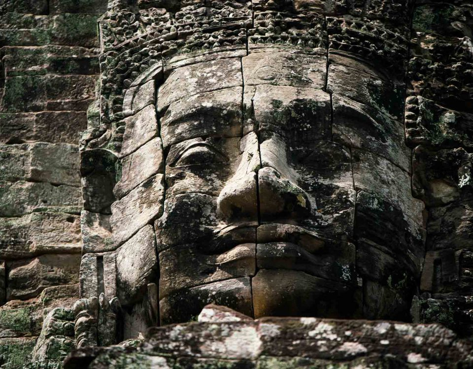 faces temple cambodia